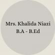 Mrs. Nosheen Ayub B.Sc – B.Ed(5)