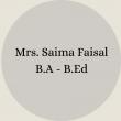 Mrs. Nosheen Ayub B.Sc – B.Ed(6)