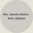 Mrs. Nosheen Ayub B.Sc – B.Ed(27)