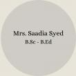 Mrs. Nosheen Ayub B.Sc – B.Ed(60)